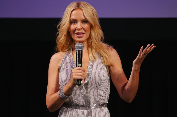 "Kylie Minogue at ""Kylie On Stage"" event."