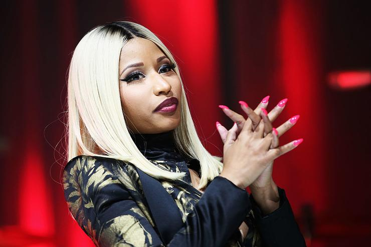 Nicki Minaj speaks onstage at the 2013 BMI R&B/Hip-Hop Awards at Hammerstein Ballroom on August 22, 2013 in New York City.