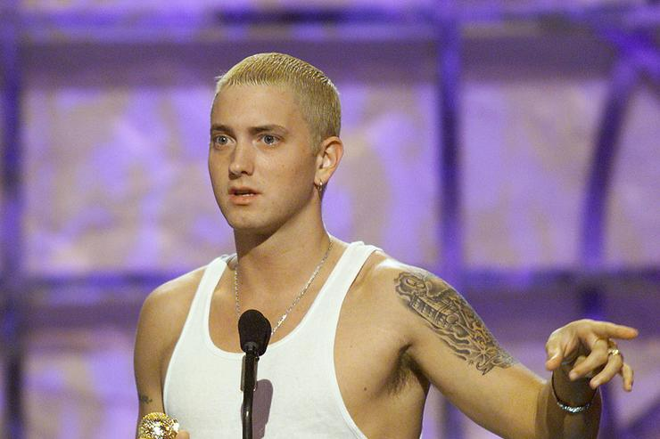 Eminem won Music Video of the Year at 'The Source Hip Hop Music Awards 2000' at the Pasadena Civic Auditorium in Los Angeles, Ca. 8/22/00. Photo by Kevin Winter/Getty Images.