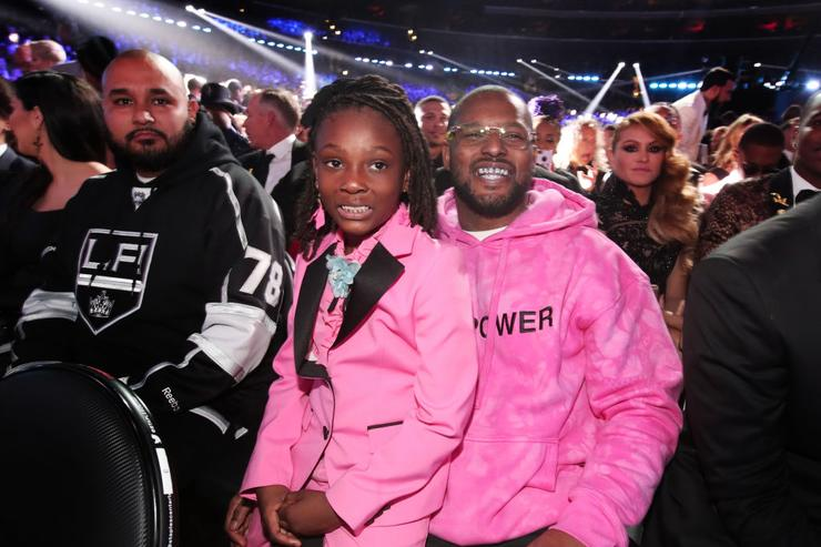 Joy Hanley and rapper Schoolboy Q during The 59th GRAMMY Awards at STAPLES Center on February 12, 2017 in Los Angeles, California.