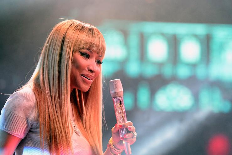 Nicki Minaj performs onstage on December 31, 2015 in Las Vegas, Nevada.