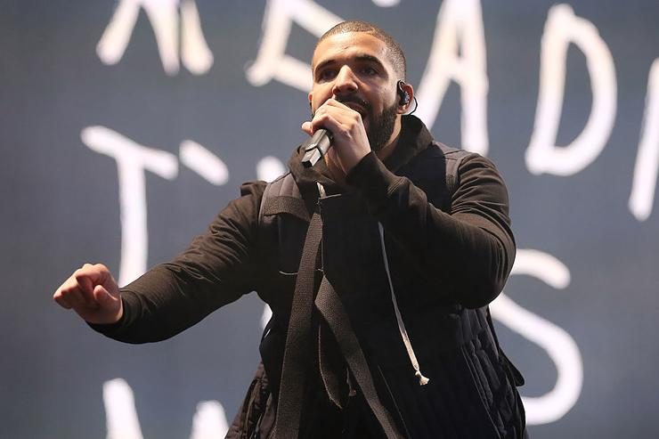 Drake attends/performs on day 1 of the New Look Wireless Festival at Finsbury Park on July 3, 2015 in London, England.