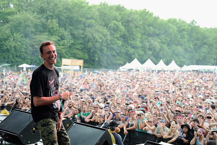 Logic performs onstage during day 2 of the Firefly Music Festival on June 19, 2015 in Dover, Delaware.
