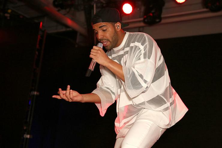 Drake performs at the Time Warner Cable Studios and Revolt Bring the Music Revolution event on February 1, 2014 in New York City.