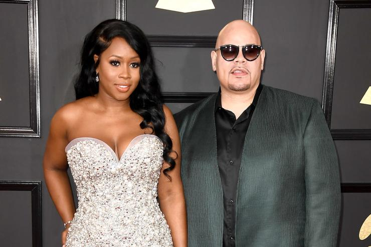 Remy Ma (L) and Fat Joe attend The 59th GRAMMY Awards at STAPLES Center on February 12, 2017 in Los Angeles, California.