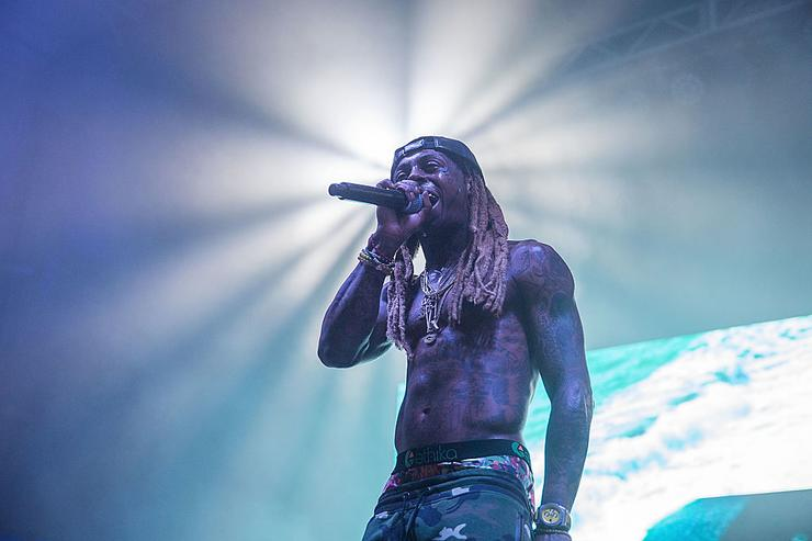 Lil Wayne takes the stage at the Bud Light Party Convention in Houston, August 13, 2016.