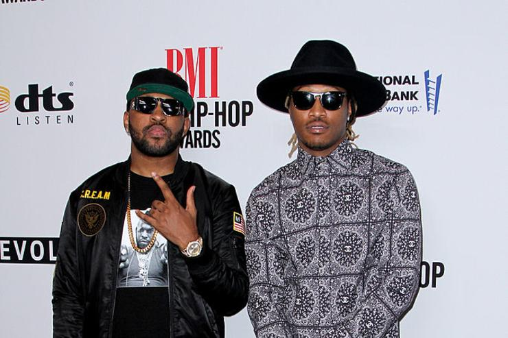 Mike Will Made It (L) and recording artist Future attend the 2014 BMI R&B/Hip-Hop Awards at the Pantages Theatre on August 22, 2014 in Hollywood, California.