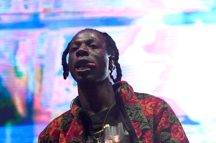 Joey Badass performs on Flog Stage during day two of Tyler, the Creator's 5th Annual Camp Flog Gnaw Carnival at Exposition Park on November 13, 2016 in Los Angeles, California.