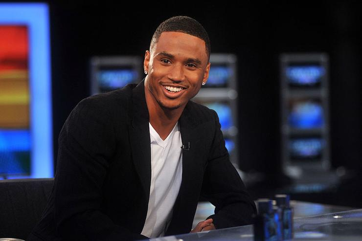 Trey Songz visits America's Nightly Scoreboard on FOX Business Network at FOX Studios on August 15, 2011 in New York City.