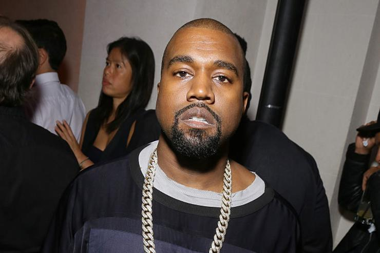 Kanye West attends Vogue 95th Anniversary Party on October 3, 2015 in Paris, France.