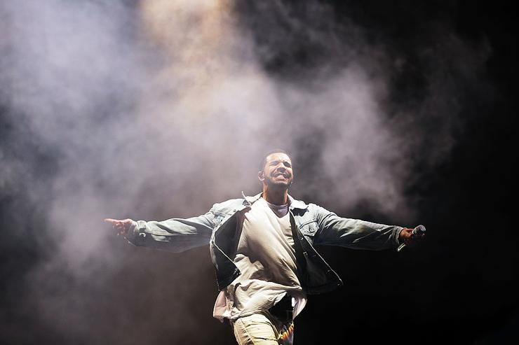 Drake performs during the Future Music Festival at Royal Randwick Racecourse on February 28, 2015 in Sydney, Australia.