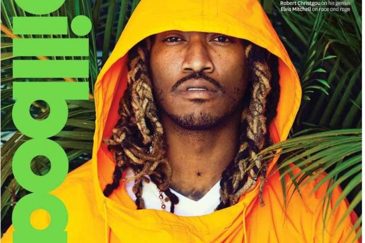 Future poses for the cover of Billboard.