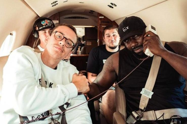 Logic aboard a flight with his crew.