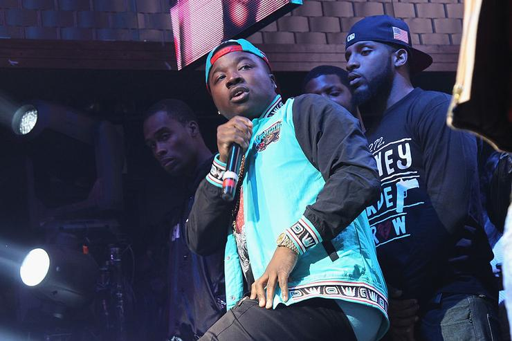 Troy Ave performs onstage as Coors Light Soundtrack reFRESH brings DJ Mustard, Fabolous and special guests To NYC at Stage 48 on November 17, 2015 in New York City.