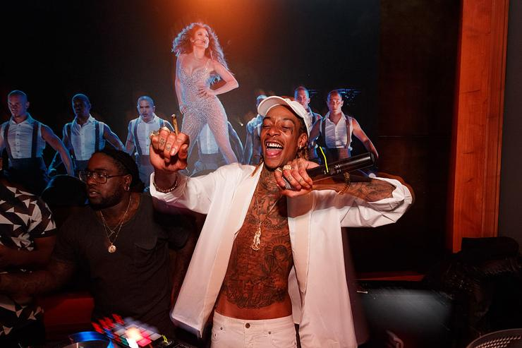 Wiz Khalifa attends Jennifer Lopez's 2015 American Music Awards After Party hosted by CÎROC with Cross Pens on November 22, 2015 in Los Angeles, California.
