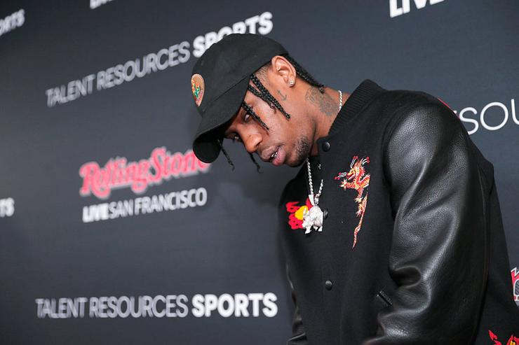 Travis Scott attends Rolling Stone Live SF with Talent Resources on February 7, 2016 in San Francisco, California.