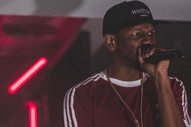 Giggs performs at a show.