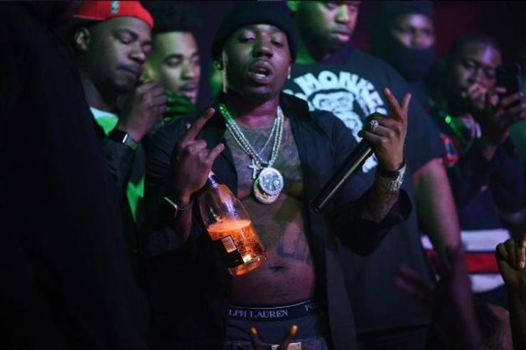 YFN Lucci performs at a show.
