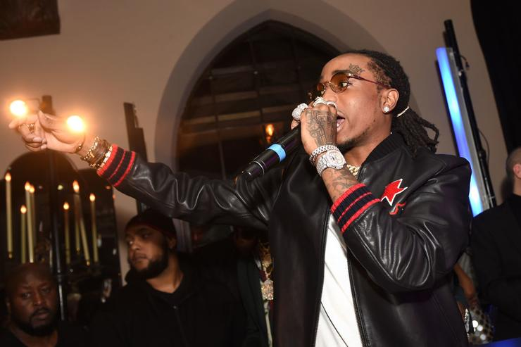 Quavo of Migos attends GQ and Chance The Rapper Celebrate the Grammys in Partnership with YouTube at Chateau Marmont on February 12, 2017 in Los Angeles, California.
