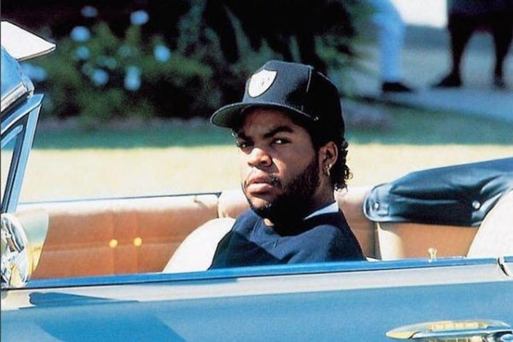 Ice Cube drives his whip.