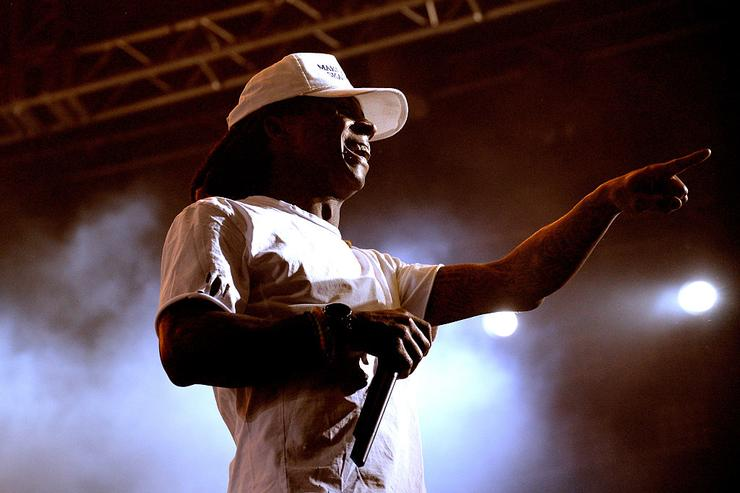 Lil Wayne performs onstage during day 1 of the 2016 Coachella Valley Music & Arts Festival Weekend 2 at the Empire Polo Club on April 22, 2016 in Indio, California.