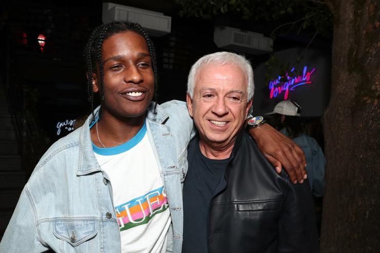 A$AP Rocky GUESS Co-Founder and Chief Creative Officer Paul Marciano attend AWGE presents: A$AP Rocky x GUESS Club on March 10, 2017 in West Hollywood, California.