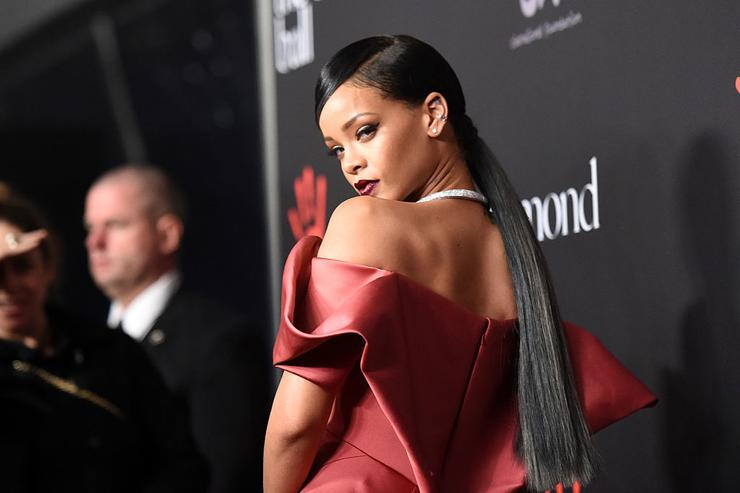 Rihanna attends Rihanna's First Annual Diamond Ball at The Vineyard on December 11, 2014 in Beverly Hills, California.
