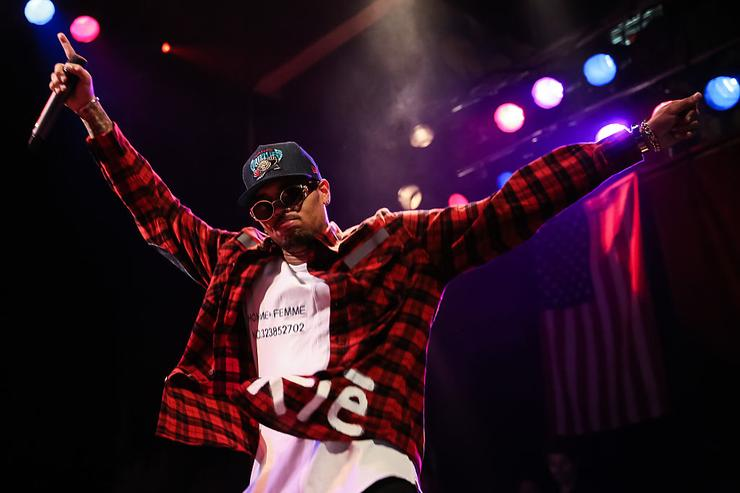 Chris Brown attends a press conference at House of Blues Sunset Strip on November 10, 2014 in West Hollywood, California.
