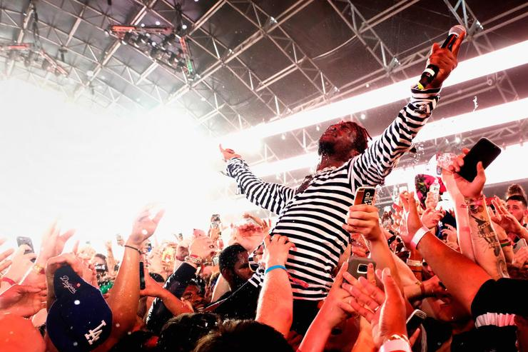 Lil Uzi Vert performs in the Sahara Tent during day 3 (Weekend 2) of the 2017 Coachella Valley Music & Arts Festival (Weekend 2).