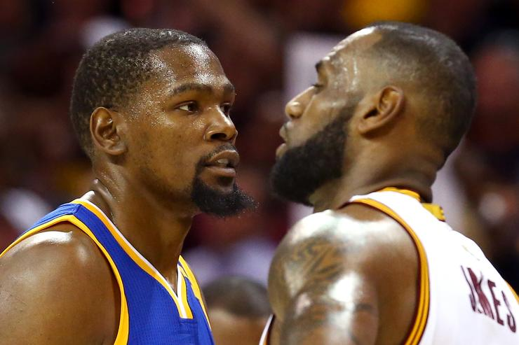 kevin durant and lebron james at the 2017 nba finals