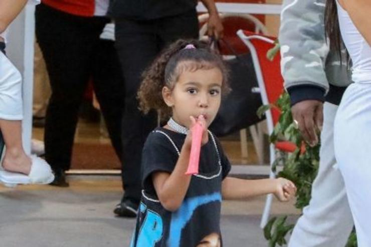 North West leaving her birthday in Calabasas