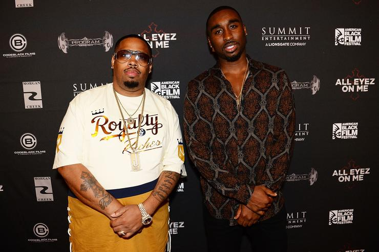 Demetrius Shipp Jr and LT Hutton at All Eyez on Me ABFF Screening