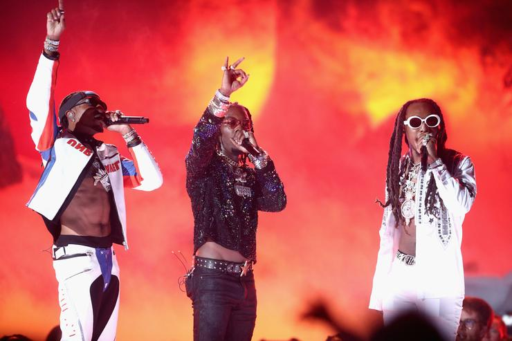 Quavo, Offset and Takeoff of Migos perform onstage at 2017 BET Awards