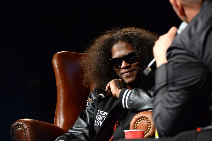 Ab-Soul speaks at Elliott Wilson hosts CRWN with Ab-Soul for WatchLOUD.com