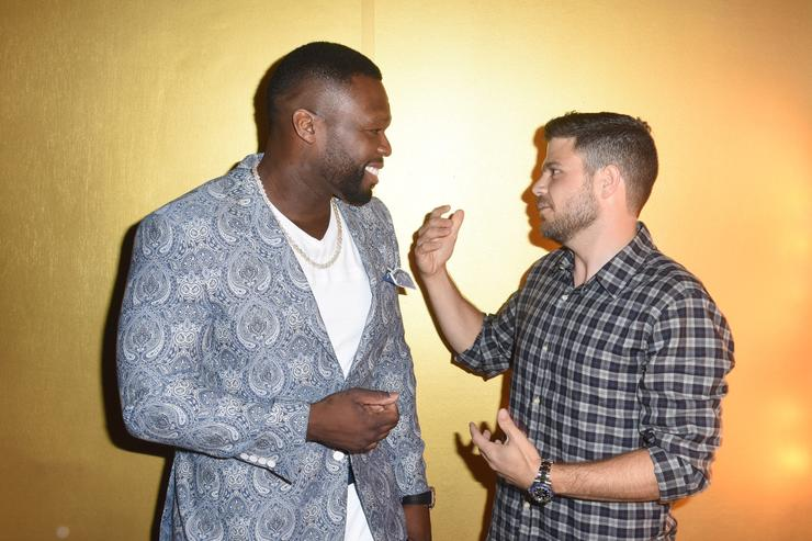 Curtis '50 Cent' Jackson and actor Jerry Ferrara attend STARZ 'Power' Season 4 L.A. Screening And Party