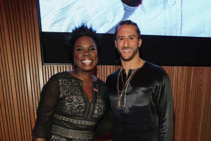 Comedian Leslie Jones and Colin Kaepernick attend the 2017 Time 100 Gala at Jazz at Lincoln Center on April 25, 2017 in New York City.