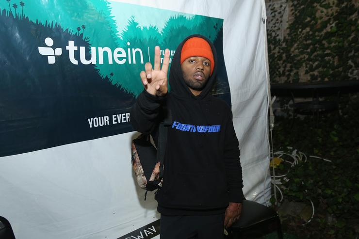 Rapper MadeinTYO performs on stage at the Hip-Hop Beat Showcase at TuneIn Studios @ SXSW 2017 on Thursday, March 16th 2017 in Austin, TX.