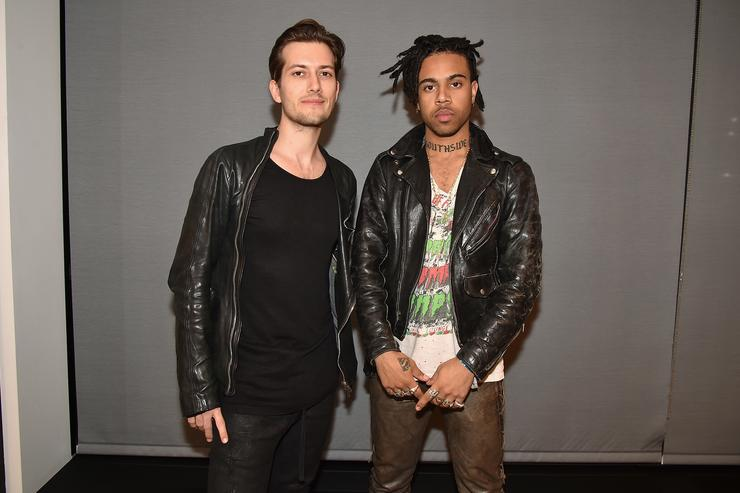 Alex Ljung and Vic Mensa attend the SoundCloud Artist Forum Afterparty at Samsung 837 on November 16, 2016 in New York City.