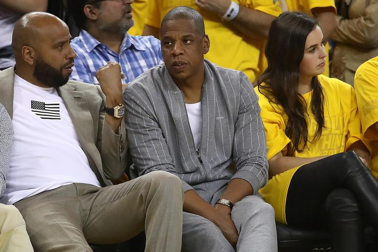Recording artist Jay-Z attends Game 1 of the 2017 NBA Finals between the Golden State Warriors and the Cleveland Cavaliers at ORACLE Arena on June 1, 2017 in Oakland, California.