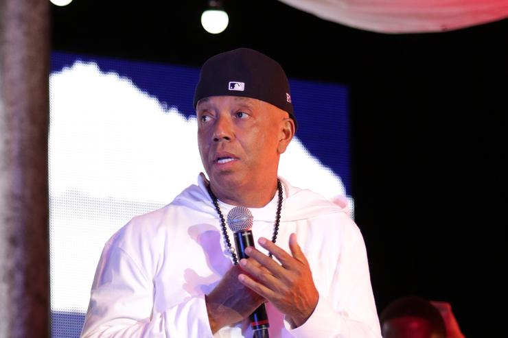 Russell Simmons speaks during VAN JONES WE RISE TOUR powered by #LoveArmy at Hollywood Palladium on July 26, 2017 in Los Angeles, California.