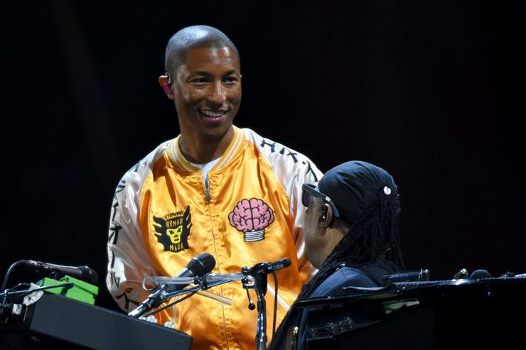 Pharrell Williams and Stevie Wonder perform onstage during the 2017 Global Citizen Festival: For Freedom. For Justice. For All. in Central Park on September 23, 2017 in New York City. at Central Park on September 23, 2017 in New York City.
