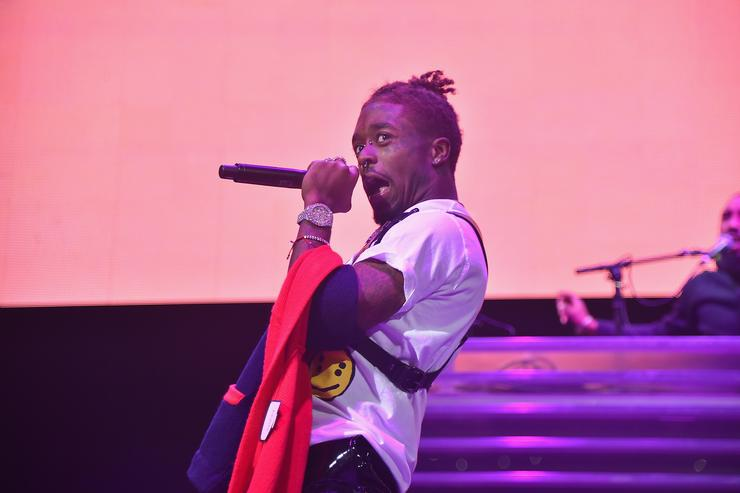 Lil Uzi Vert performs onstage during 105.1's Powerhouse 2017 at the Barclays Center on October 26, 2017 in the Brooklyn, New York City City.