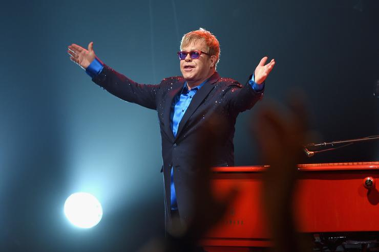 Elton John performed songs from his new album Wonderful Crazy Night out February 5, as well as classic hits, on January 13th at the Wiltern in Los Angeles.