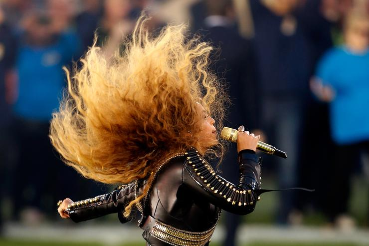Beyonce performs during the Pepsi Super Bowl 50 Halftime Show at Levi's Stadium on February 7, 2016 in Santa Clara, California