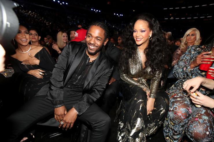 Kendrick Lamar and Rihanna at the 2018 Grammys