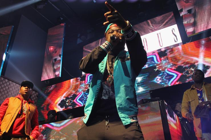 Troy Ave performs onstage as Coors Light Soundtrack reFRESH brings DJ Mustard, Fabolous and special guests To NYC at Stage 48 on November 17, 2015