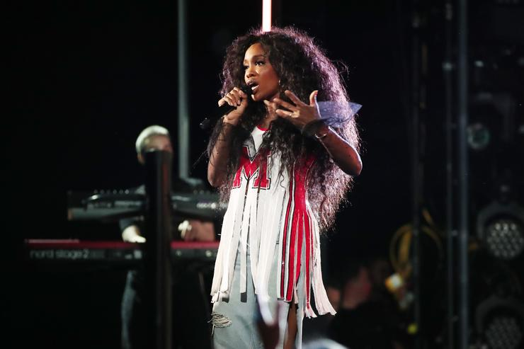 SZA performs onstage during the 60th Annual GRAMMY Awards at Madison Square Garden on January 28, 2018 in New York City