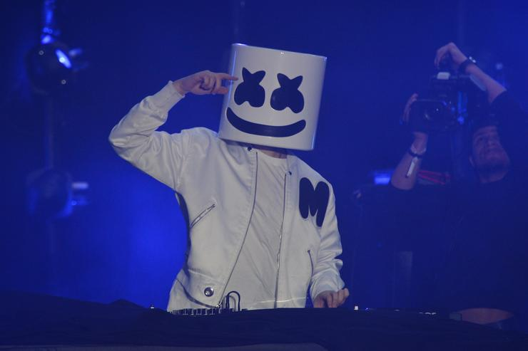 Marshmello performs onstage at 'Spotify's Best New Artist Party' at Skylight Clarkson on January 25, 2018 in New York City.