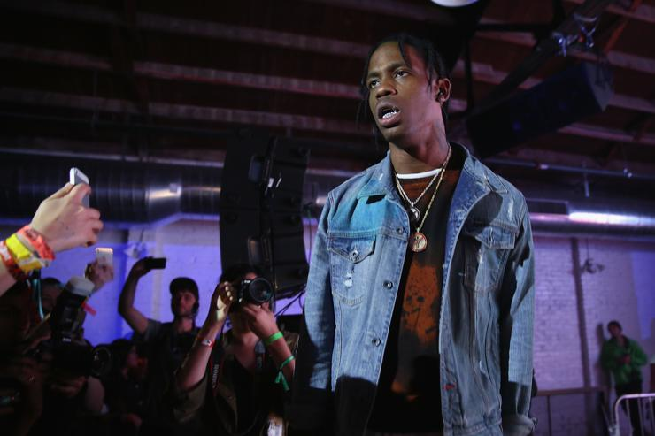 Travi$ Scott preforms at Tumblr IRL Presents Travi$ Scott At SXSW, With Art By Marc Kalman And Corey Damon Black on March 20, 2015 in Austin, Texas