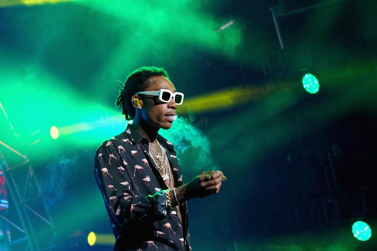 Wiz Khalifa performs onstage at night one of the 2017 BET Experience STAPLES Center Concert, sponsored by Hulu, at Staples Center on June 22, 2017 in Los Angeles, California